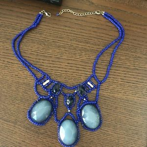 Anthropologie blue statement necklace